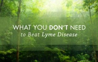 What You Don't Need to Do to Beat Lyme Disease