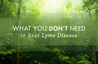 What you don't need to do for Lyme disease