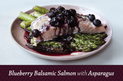 Blueberry Balsamic Salmon With Asparagus