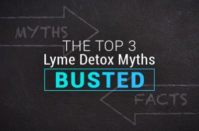 The Top 3 Myths About Lyme Detox, Busted, on black chalk background