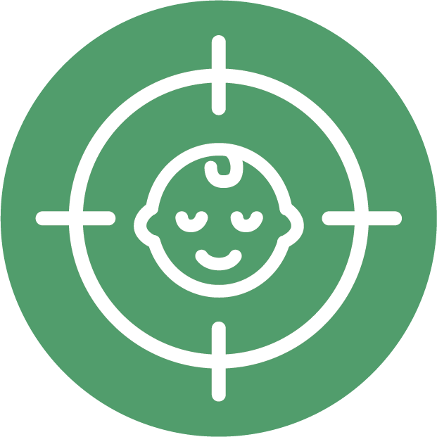target mark on child icon