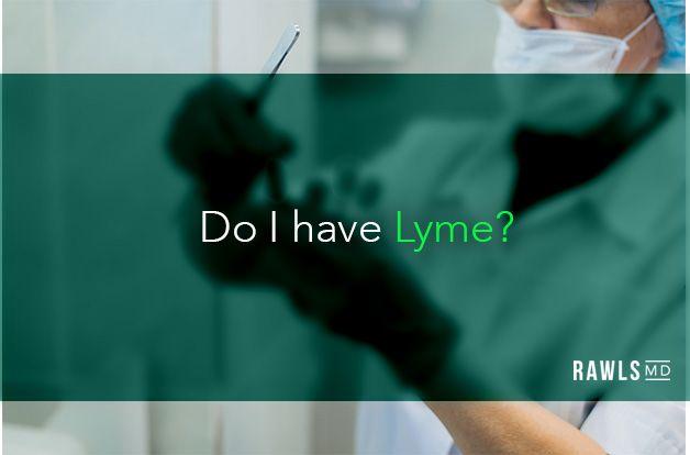 Do I have Lyme? Lab scientist testing blood sample background