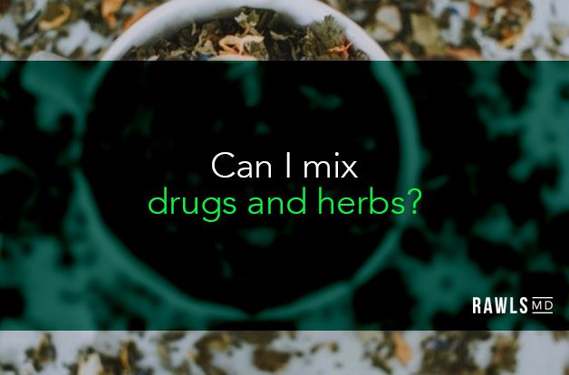 Can I mix drugs and herbs? dried herbs background