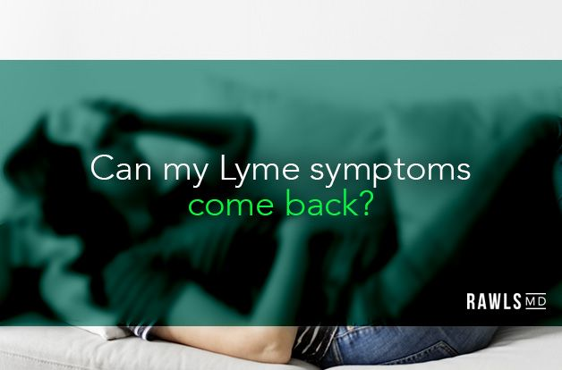 Can my Lyme symptoms come back? Sick woman on couch background