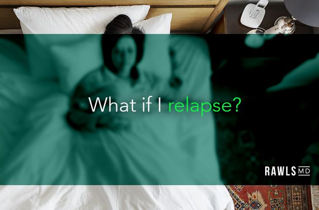 What is I relapse? Sick woman in bed background