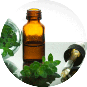 Oregano Essential Oil in bliss bottle and dropper